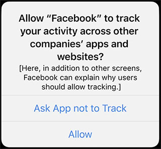 iOS 14 Tracking Prompt